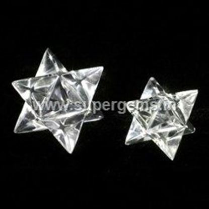 Picture of Clear quartz merkaba star