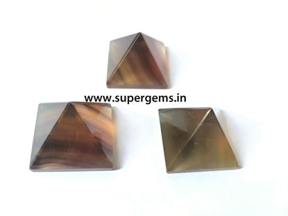 Picture of multi flourite pyramid