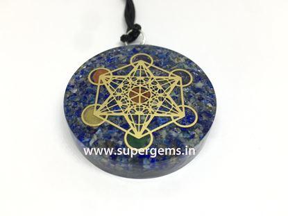 Picture of lapis lazuli chakra orgonite pendant